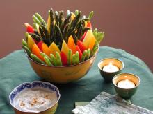 Crudités with Indian Curry Dip